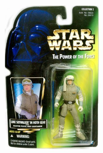 1996 Star Wars: Power of the Force Luke Skywalker in Hoth Gear Action Figure Green Card Collection 2