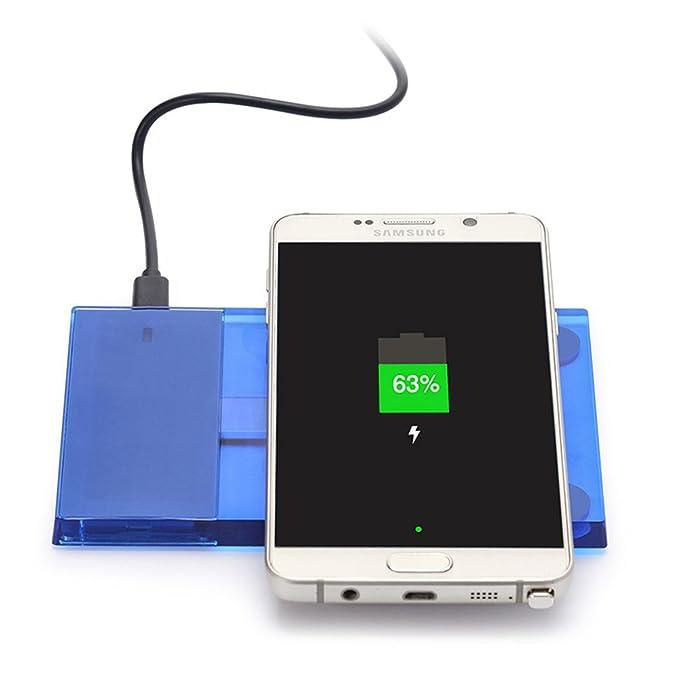 Funda para teléfono rectangular inalámbrico cargador con Qi ...