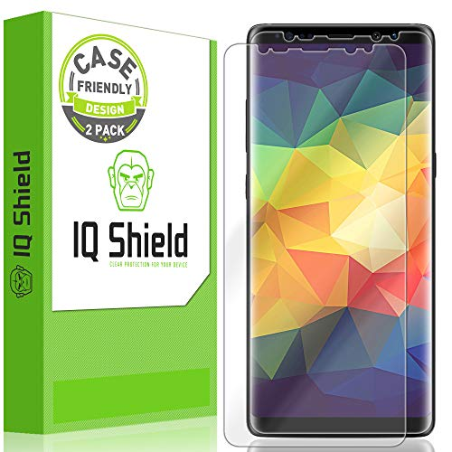 Galaxy Note 8 Screen Protector [2-Pack][Case Friendly][Ultimate], IQ Shield LiQuidSkin Full Coverage Screen Protector for Galaxy Note 8 [S Pen Compatible] HD Clear Anti-Bubble Film