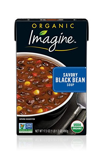 Kosher Organic Black Beans - Imagine Organic Soup, Savory Black Bean, 17.3 oz. (Pack of 12)
