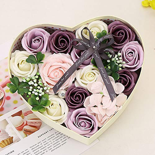 AIUSD Mother's Day DIY Soap Flower Gift Rose Box Bouquet Wedding Home Festival Gift