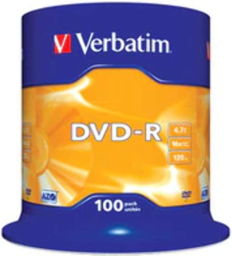 Verbatim Dvd R 16 X 4 7 Gb Tarrina 100 Stück 43549 Computer Zubehör