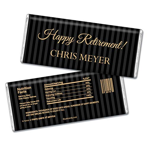 - Personalized Retirement Party Chocolate Bar Wrappers (25 Wrappers)