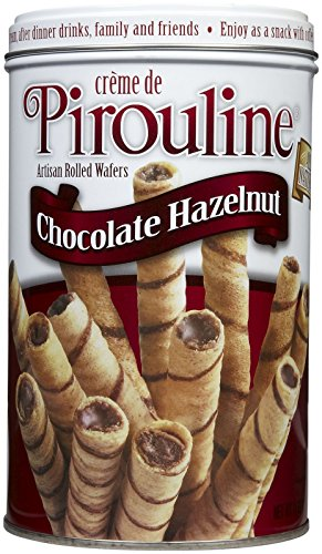 Creme Wafer Cookies (Pirouline Rolled Wafers - Chocolate Hazelnut - 14 oz)