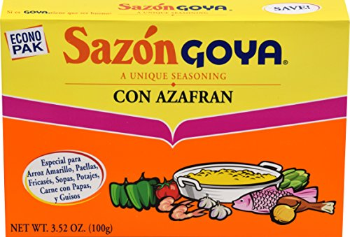 - Goya Foods Sazon Con Azafran Seasoning, 20 ct