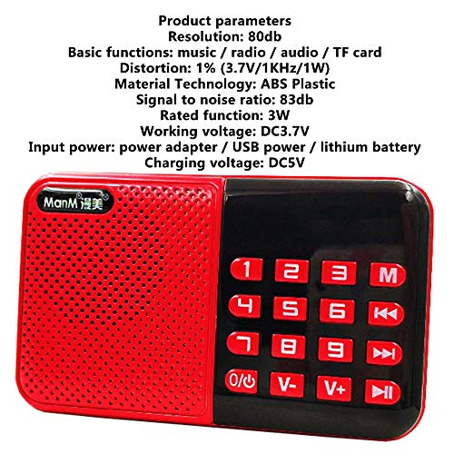 Household appliances Support TF U Disk Older MP3 Player, Portable Mini Full-Band Radio, Large Button Radio AOYS by Household appliances (Image #5)