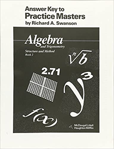 Amazon mcdougal littell answer key to practice masters mcdougal littell answer key to practice masters algebra and trigonometry structure and method book 2 mcdougal littell structure method fandeluxe Image collections