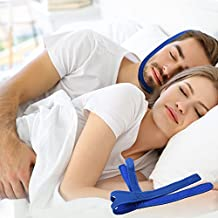 New Chin Straps Stop Snoring Devices , Improved Version Triangle Type Comfortable Adjustable, Best Snoring Solutions for You (Blue)