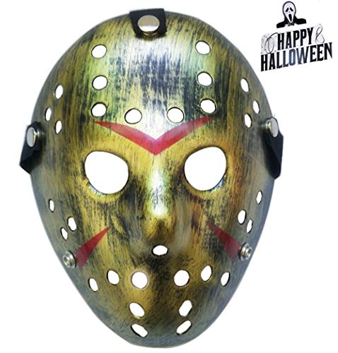 KINGEVA Halloween Mask Freddy Wars Jason Mask Cosplay Halloween Mask Party Mask (Copper) ()