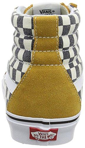 Vans Sk8-Hi Reissue - Zapatillas Unisex adulto Multicolor (checkerboard/spruce Yellow/navy)
