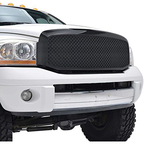 EAG 06-08 Dodge Ram 1500 Mesh Grille ABS Black Carbon Fiber Look Replacement Grill W/Shell (41-0112CF)