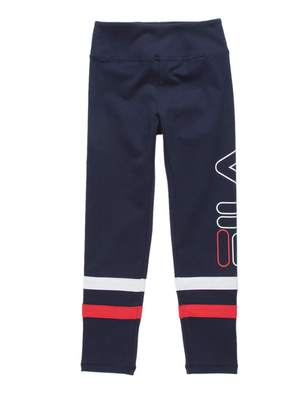 Fila Striped Girls Leggings, Navy, Medium by Fila (Image #1)