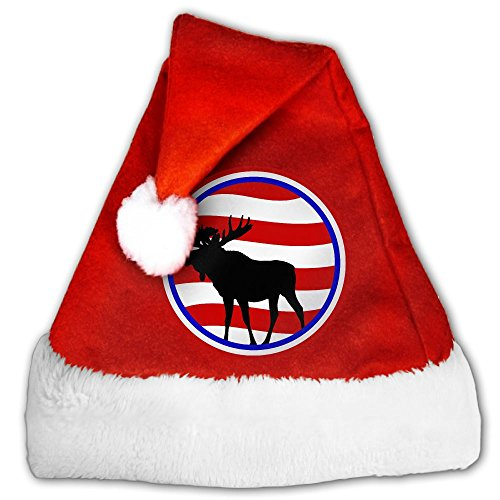 XXXMAS-01 Plush Christmas Elk Hat Progressive Bull Moose Santa Hat For Christmas Party Celebration (Moose A Moose Halloween Songs)
