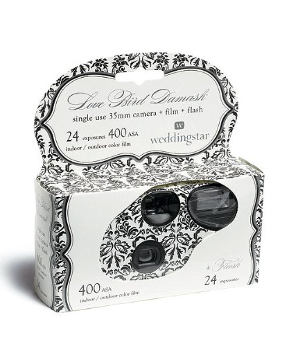 Love Bird Damask Single Use Camera Style 9200