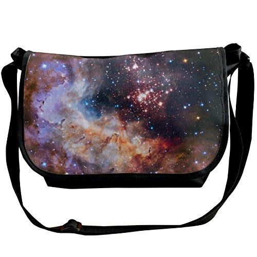 Unisex Wide Diagonal Shoulder Bag Galaxy Nebulosas Space Printed Casual Messenger Single Shoulder Bag Adjustable Shoulder Tote Bag