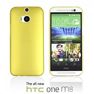 OnlineBestDigital - Ultra-Slim Colorful Transparent Case for HTC One M8 - Gold