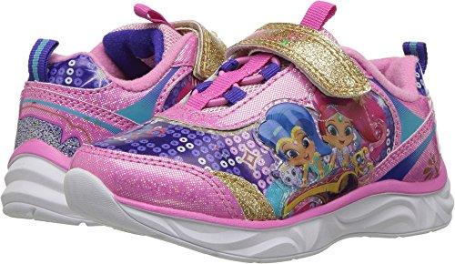 Josmo Kids Baby Girl's Shimmer & Shine Lighted Sneaker (Toddler/Little Kid) Pink Multi 7 M US Toddler ()