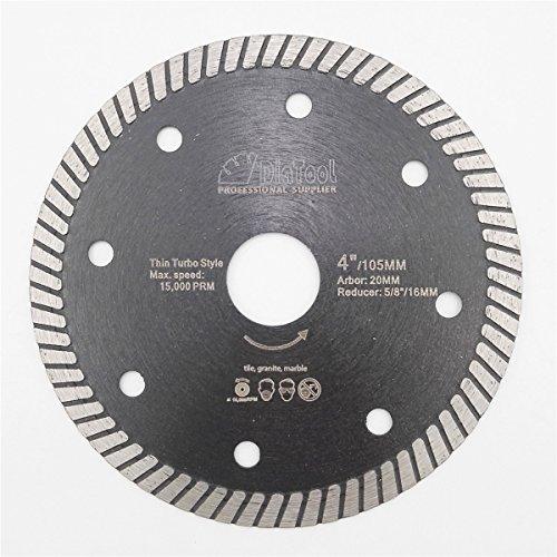 DIATOOL Diamond Super thin Blade Dia 4 Inch Cutting Porcelain Ceramic Tile Granite Turbo Discs