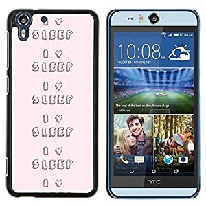 Stuss Case / Funda Carcasa protectora - Love To Nuit Pink Heart texte - HTC Desire Eye M910x
