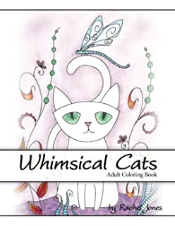 Adult Coloring Book Whimsical Cats A Stress Relieving For Adults
