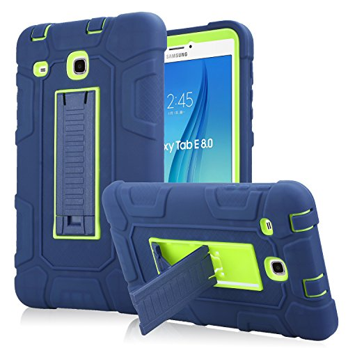 Samsung Galaxy Tab E 8.0 Case, High Impact Armor Heavy Duty Hybrid Shockproof Protection Cover Built With Kickstand for Samsung Galaxy Tab E 32GB SM-T378/Tab E 8.0 Inch SM-377 Tablet (Navy) by PPSHA