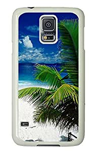 personalize Samsung Galaxy S5 cases Tropical Beach Holiday PC White Custom Samsung Galaxy S5 Case Cover