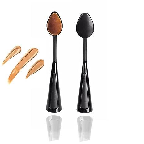 ovalada cepillo de dientes vonisa Curve Liquid Foundation cepillo de batir Pro Pinceles de maquillaje Contour