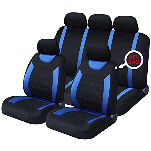 UKB4C Blue Full Set Front & Rear Car Seat Covers for Adam 12-On