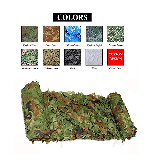 Camo Net,Camouflage Netting Sunshade Cover Sunscreen Mesh Awning,for Child Hunting Outdoor Shooting Army Decoration Garden Activity Wild Animals Photography Fishing Military, Jungle (Size : 77M) ()