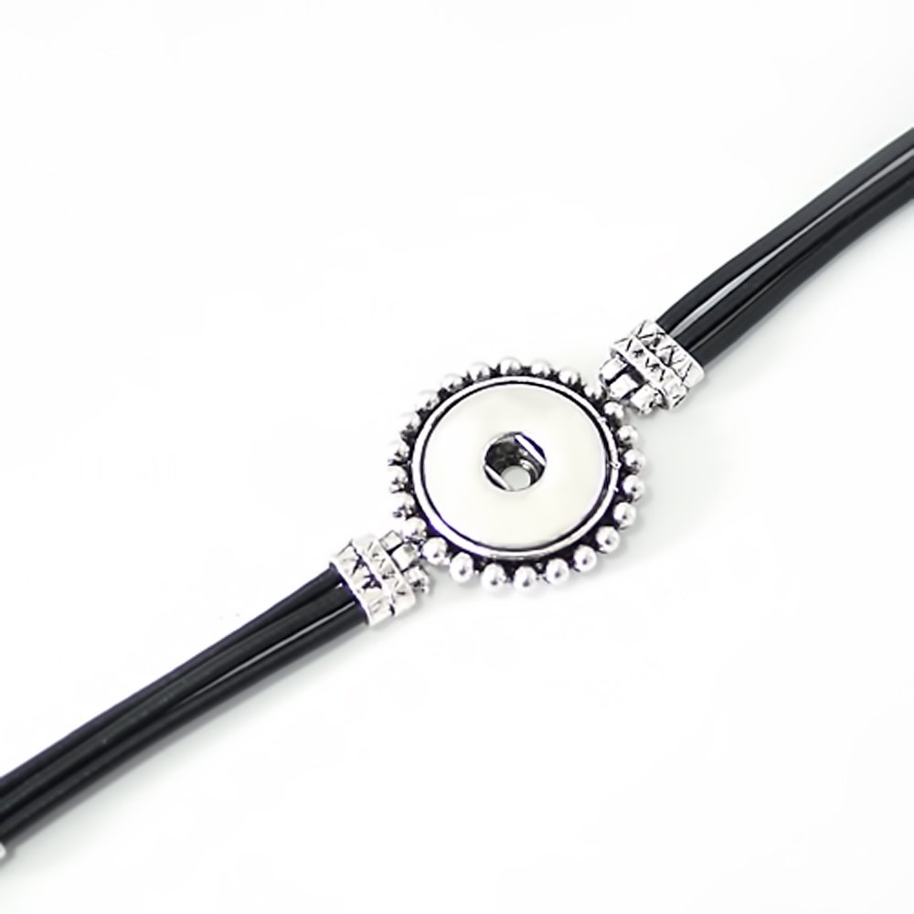 Lovmoment Bracelet Single Button Bangle Fit Snap Button Jewelry KB0539