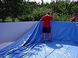 poolfolien.eu Pool Liner Blue Pool Sheet Suitable For Steel Wall Pool Ø 350x 90cm