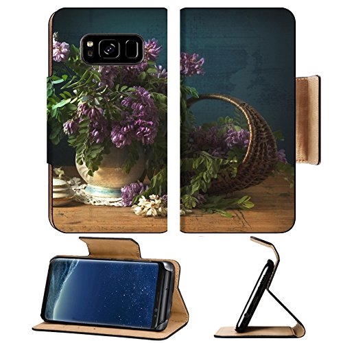Liili Premium Samsung Galaxy S8 Plus Flip Pu Leather Wallet Case Image Id  17589320 Still Life With Flowers Of Acacia