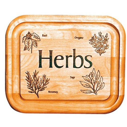 Catskill Craftsmen 7-Inch Bar Board with Branded Herbs
