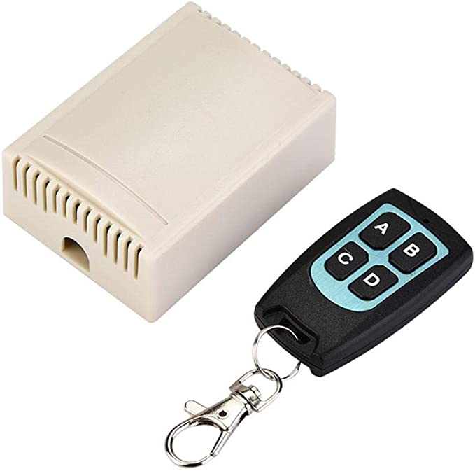 433MHz RF Remote Control Switch Receiver RF Transmitter Door Garage Opener Y4L5