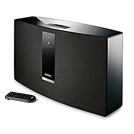 Bose SoundTouch 30 wireless speaker, works with Alexa - Black 4 <p>The best-performing one-piece wireless speaker from Bose Works with your home Wi-Fi network and Bluetooth devices so you can play almost anything you can imagine. Supported audio formats - MP3, WMA, AAC, FLAC, Apple Lossless One-touch access to music services (Prime Music, Spotify, Pandora), internet radio and music library playlists with six personalized presets Powerful control with the SoundTouch app for your smartphone or tablet. Dimensions & Weight : 24.6 cm H x 43.5 cm W x 18 cm D (8.4 kg) Enjoy hands-free voice access to music on your SoundTouch speaker with any Amazon Alexa-enabled device, like the Amazon Echo Dot.Wireless network compatibility: 802.11 b/g/n</p>