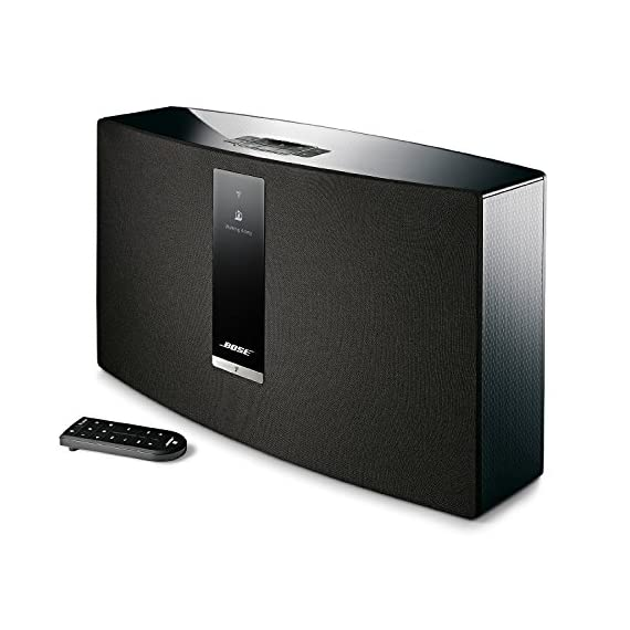 Bose SoundTouch 30 Series III Wireless Music System- Black 1 The best-performing one-piece wireless speaker from Bose Works with your home Wi-Fi network and Bluetooth devices so you can play almost anything you can imagine. Supported audio formats - MP3, WMA, AAC, FLAC, Apple Lossless One-touch access to music services (Prime Music, Spotify, Pandora), internet radio and music library playlists with six personalized presets