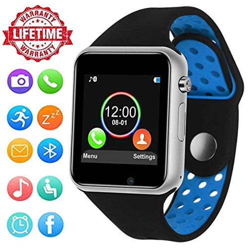Smartwatch for Android Phones,HongTu Bluetooth Smart Watch Fitness Tracker with SIM TF Card Slot Camera Pedometer for iOS iPhone Android Samsung LG Women Men Kids