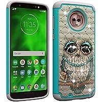 Berry Accessory Moto G6 Case,Luxury Glitter Sparkle Bling Case,Studded Rhinestone Crystal Hybrid Dual Layer Armor Case for Motorola Moto G6/Moto G (6th Generation),5.7 Inch Cute Owl
