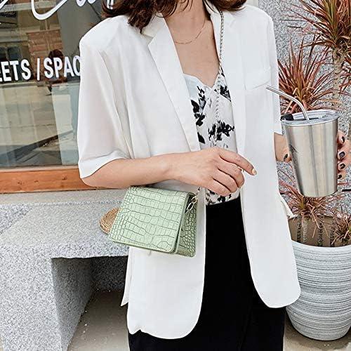 Taohou Moda Crocodile Pattern Mujer Crossbody Bag Hombro Small Chain Bag, Verde