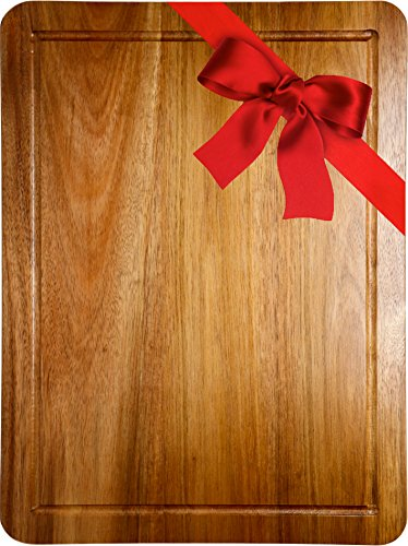 Somarian Double Sided Acacia Wood Cutting Board with Groove, 3/4 Inch Thick - 15¾-Inch-by-11¾'' -Inch - (Flower Chop Plate)