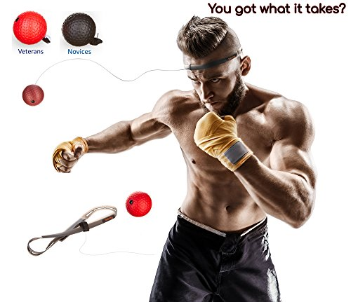 Reflex Boxing Ball for Boxing Training with Adjustable Headband, Boxing Ball on String Perfect For A Complete Boxing Gear by Sebring