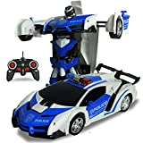 Amyove One-key Deformation Robot Toy Transformation Electric Car Model with Remote Controller Parent-child communication bridge