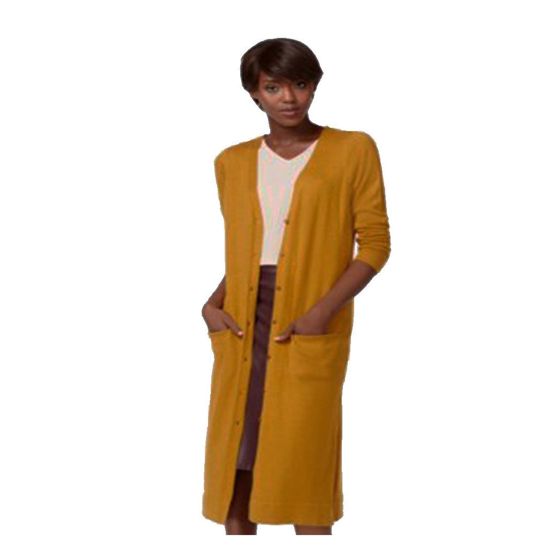 Bar Iii Women's Long Pocket Cardigan XS Cathay Spice