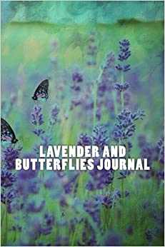 Lavender and Butterflies Journal: 150 page lined journal