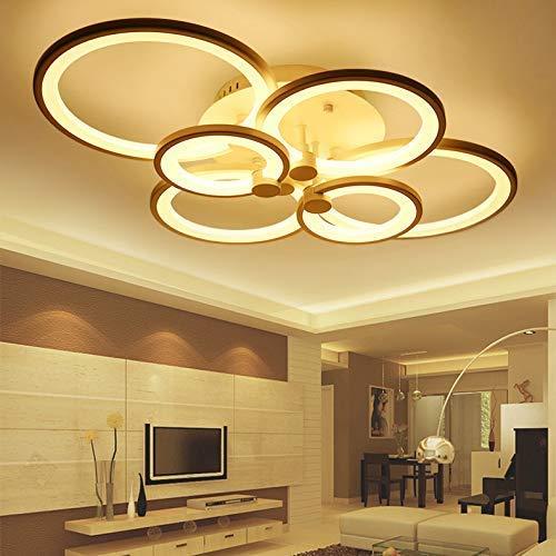 CITRA 6 Light Round White Body LED Chandelier Lamp - Warm White