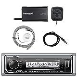 Kenwood Marine Digital Media Bluetooth Receiver, SiriusXM Satellite Radio Tuner Kit, SiriusXM Antenna, Antenna - 40'