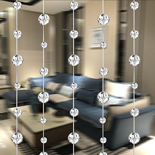 Glass Beaded Curtain - SKY CANDYBAR 10 Meters Glass Crystal Beads Curtain Window Door Curtain Passage Wedding Backdrop