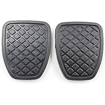 Koauto 2Pcs Brake & Clutch Pedal Pad Rubber Cover For Subaru Forester MT 36015GA111