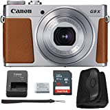 Canon G9x Mark II Digital Camera Bundle (Silver) + Canon PowerShot G9 x Mark II Basic Accessory Kit - Including EVERYTHING You Need To Get Started (Basic Kit - Silver)
