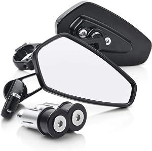 MICTUNING Motorcycle Mirrors - Bar End Rear View Mirrors Compatible with Most Honda Grom, Yamaha, Kawasaki, Ducati, Suzuki and More